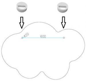 cloud zawieszki
